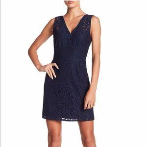 BB Dakota Janelle Navy Blue Lace Dress